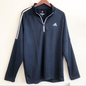 NWT ADIDAS 1/4 Zip French Terry Pullover Jacket